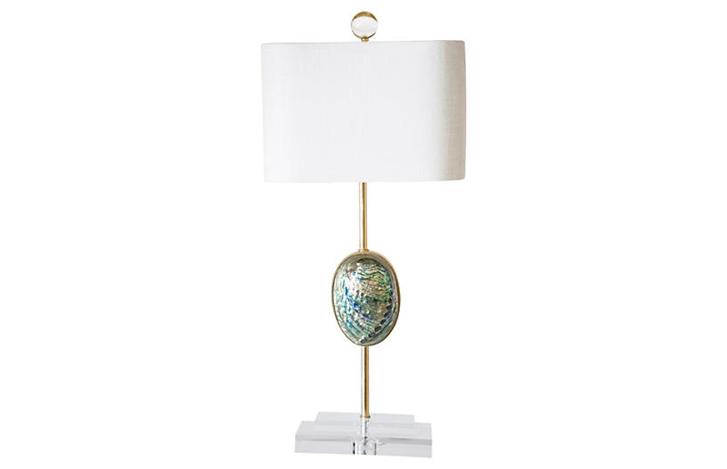 Sausilito Table Lamp, Gold Leaf