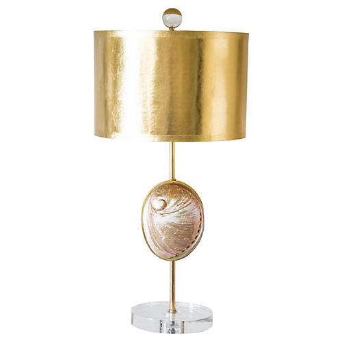 Westport Table Lamp, Gold Leaf