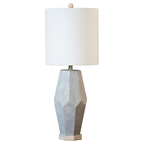Pacifica Cement Table Lamp, Gray