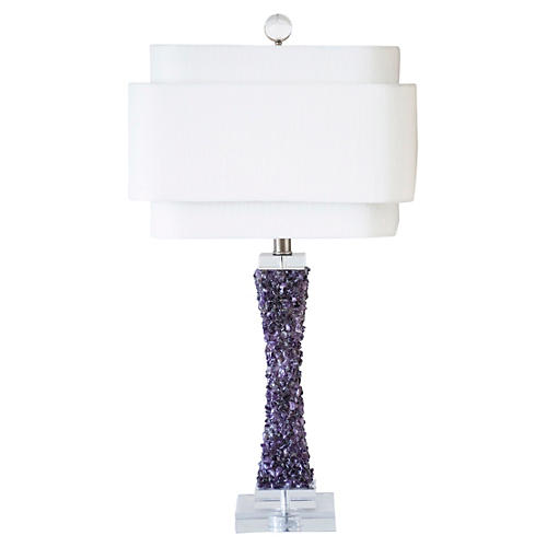 "28"" Cienega Table Lamp, Purple"