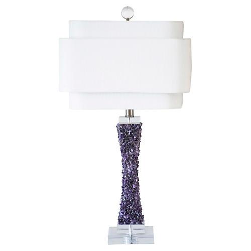 """28"""" Cienega Table Lamp, Purple"""