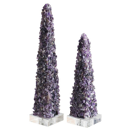 Asst./2 Cienega Quartz Obelisks, Purple