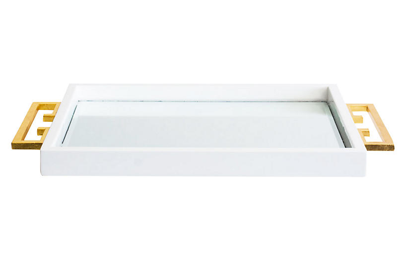 Avondale Tray, White