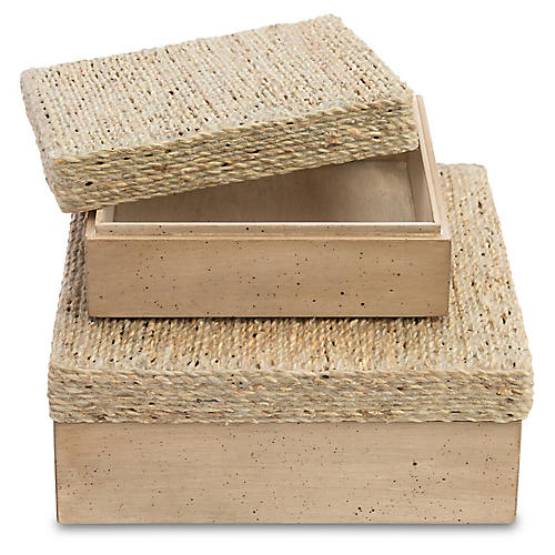 Asst. of 2 Sarasota Boxes, Beige