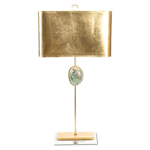 Sausalito Table Lamp, Gold/Iridescent