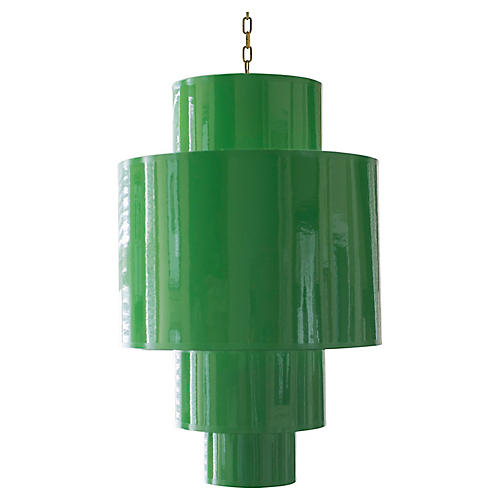 4-Tier Pendant, Green Lacquer