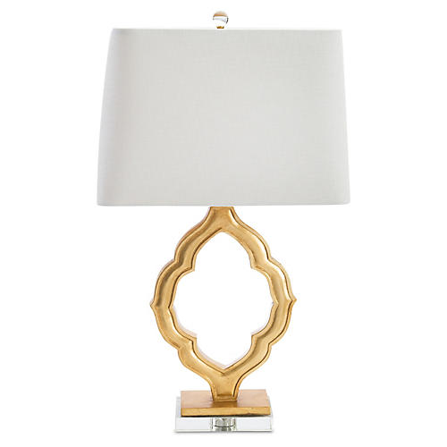 Marrakech Crystal Table Lamp, Gold/Clear