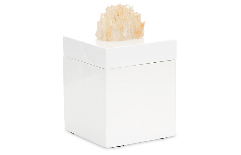 Roxbury Crystal Box - White/Yellow