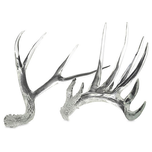 Asst. of 2 Antler Accent Pieces, Clear