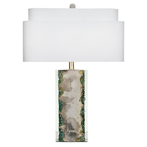 Knoll Table Lamp, Oxidized Gold