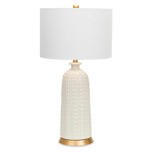 Melrose Table Lamp, Off-White/Gold