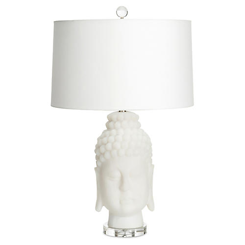 Buddha Table Lamp, Frosted White