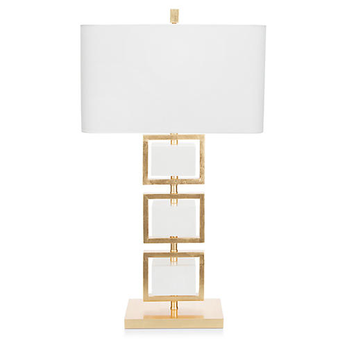 Coventry Table Lamp, White/Gold