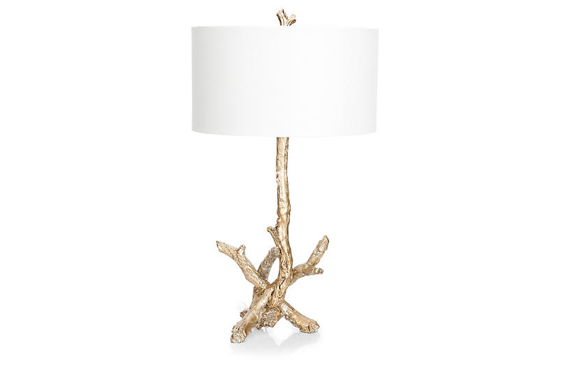 Driftwood Table Lamp - Opulent Silver