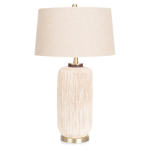 Ryder Table Lamp, Natural/Brass