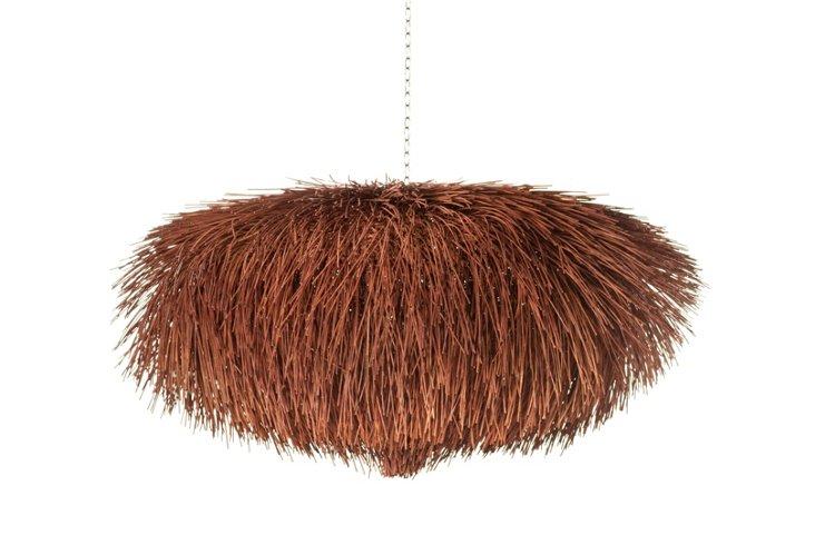 """Urchin Hanging Lamp 40"""", Brown"""