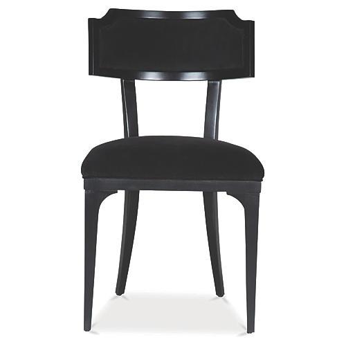 Worthington Side Chair, Ink Velvet