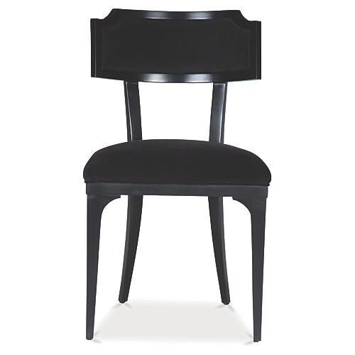 Worthington Side Chair, Ink Velvet