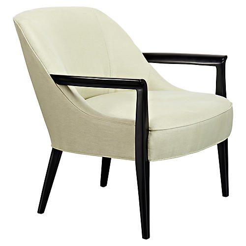 Davenport Accent Chair, Garden Linen