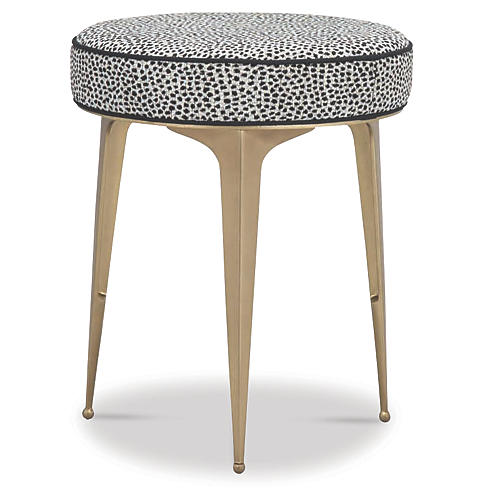 Syrie Stool, Black/White