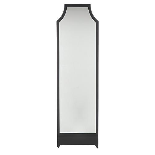 Worthington Floor Mirror, Black Onyx