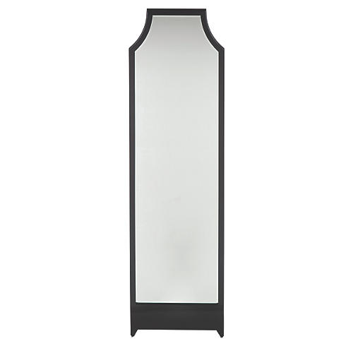 Worthington Floor Mirror, Black Onyx