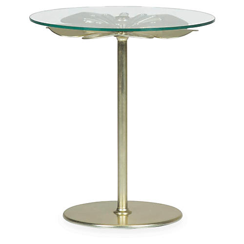 Carlin Side Table, Pale Gold Leaf
