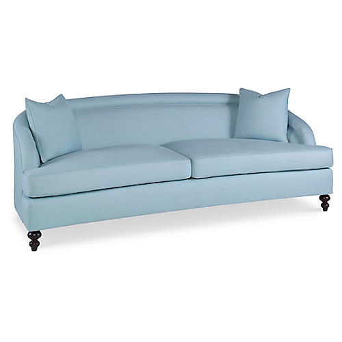 Crawford Sofa, Pale Aqua