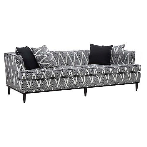 Monroe Sofa, Black/Cream