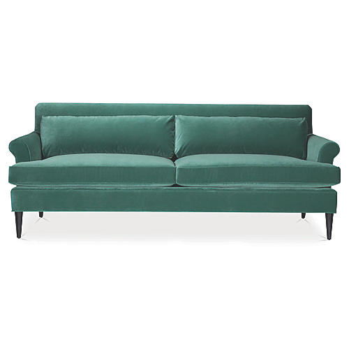 Pierce Sofa, Basil Velvet