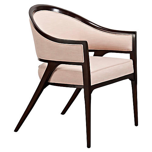 Everdene Accent Chair, Pink Sand