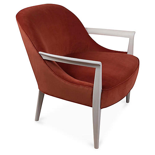 Davenport Accent Chair, Terrracotta