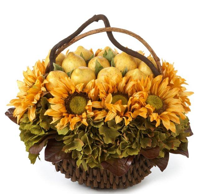 Lemon & Sunflower Basket
