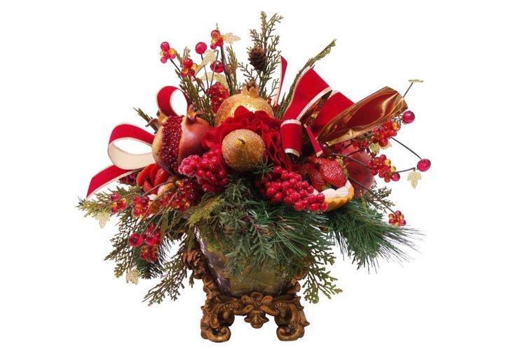 Filagree Vase Fruit Basket