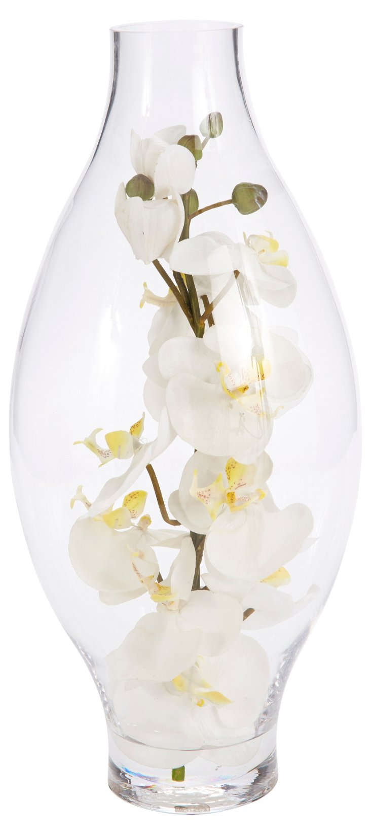 "18"" Orchids in Hurricane Glass, Faux"