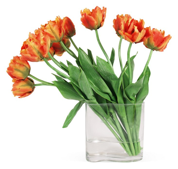 "22"" Tulips in Vase, Faux"