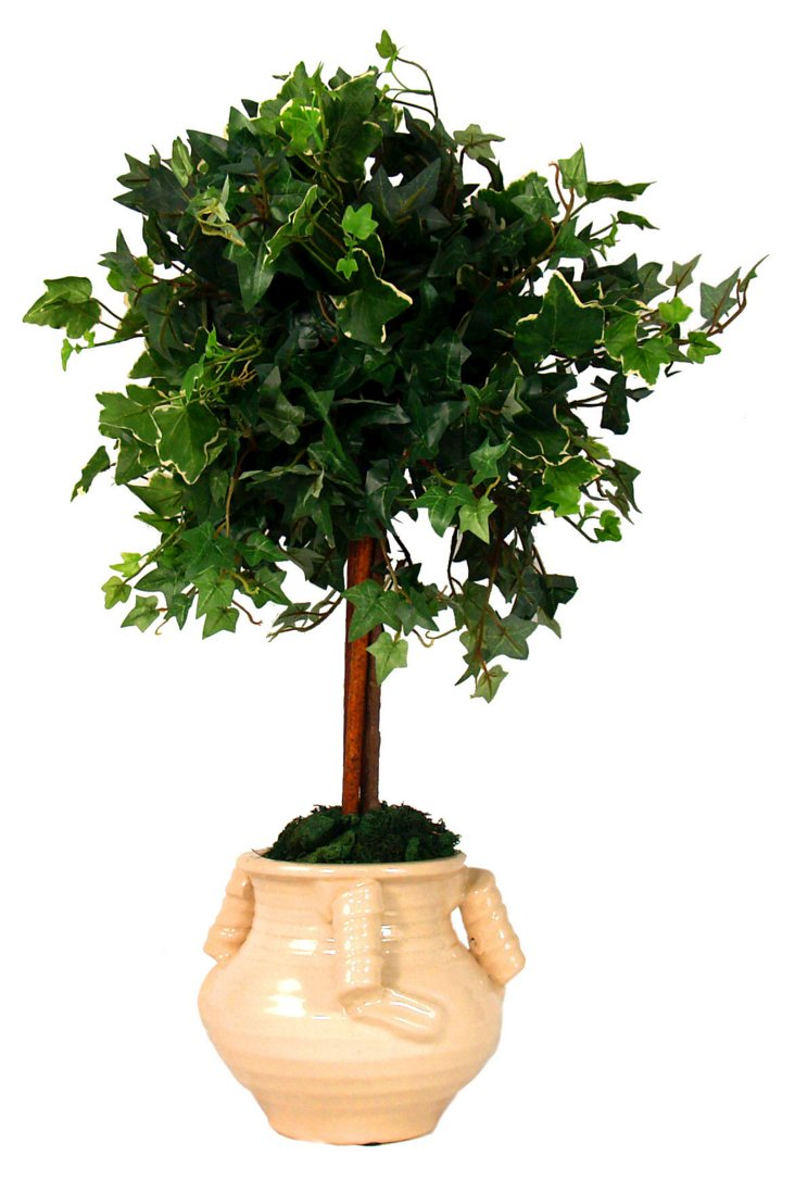"""30"""" English Ivy in Urn, Faux"""