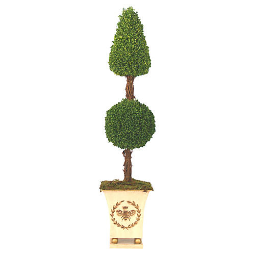 "26"" Cone Ball Topiary in Pot, Faux"