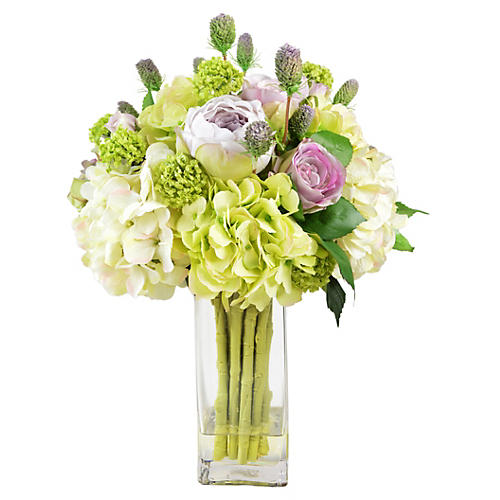 "23"" Bouquet in Vase, Faux"