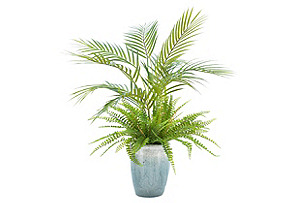 "26"" Palm Tree w/ Ferns in Planter, Faux*"