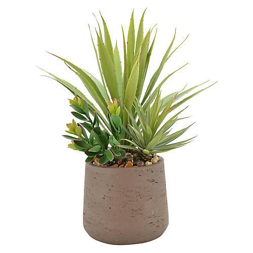 """18"""" Selloum Philodendron Arrangement, Faux"""