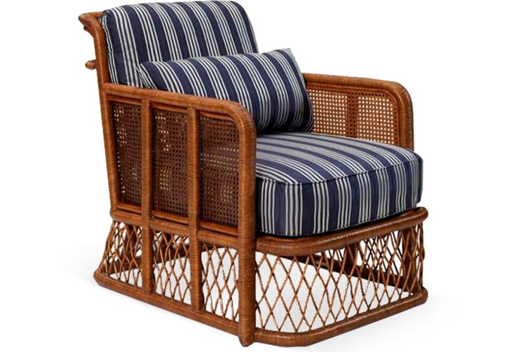 Indian Cove Lodge Wicker Club Chair