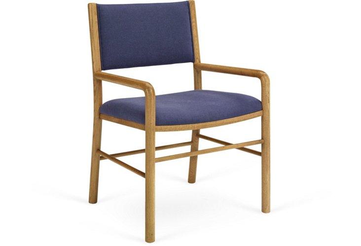 Driftwood Armchair, Steel Blue