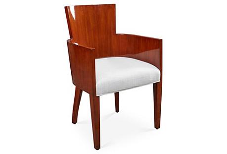 Modern Hollywood Armchair, Walnut