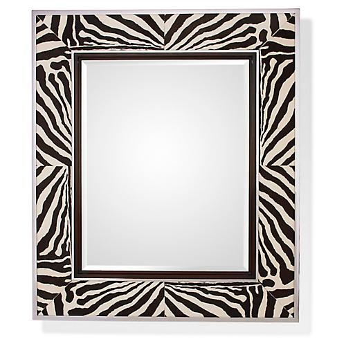 Randolph Oversize Wall Mirror, Zebra