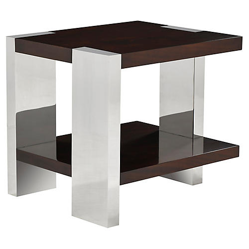 Aldrich Side Table, Penthouse Mahogany