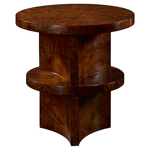 Brewster Side Table, Ash Burl
