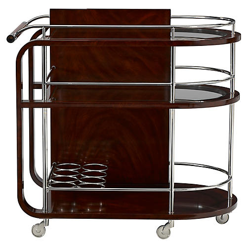 Duke Bar Cart, Penthouse Mahogany