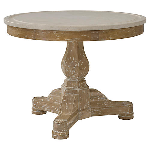 Empire w/ Stone Top Side Table, Limestone