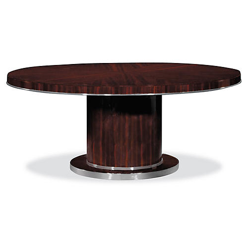 Modern Metropolis Dining Table, Macassar